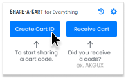 Open the Share-A-Cart browser plugin and create a new cart ID.